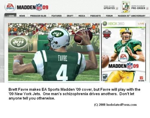 Brett Favre and EA Sports Battle Schizophrenia
