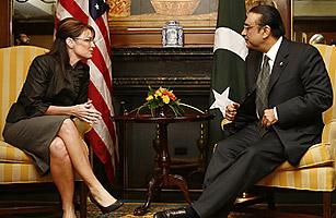 Sarah Palin meets Pakistani President Zardari