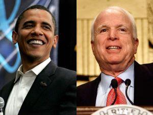 Barack Obama and John McCain