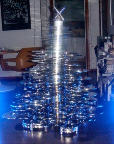 Hard Drive Christmas Tree