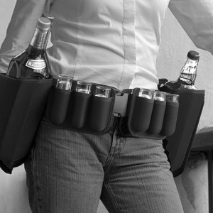 Booze belt; be prepared