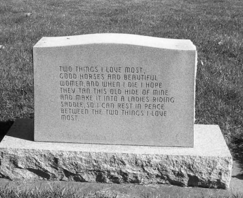 Russle J. Larsen's tombstone, Logan, Utah, USA
