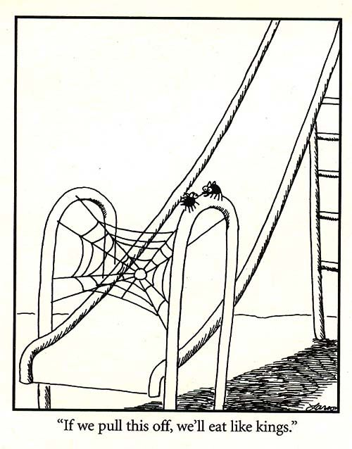 Far Side: Positive thinking