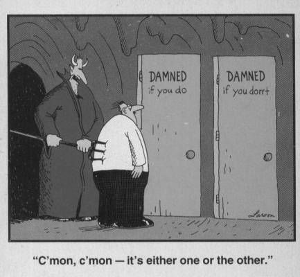 Far Side: False Choice